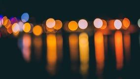 Tache floue de mouvement de la lumière images stock