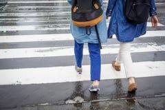 Tache floue de mouvement de permutation de concept de personnes de voyage du Japon images libres de droits