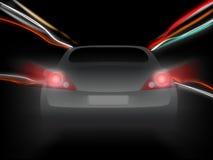 Tache floue de mouvement de véhicule de nuit image stock