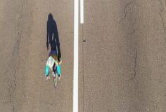 Tache floue de recyclage de vitesse au-dessus Photographie stock libre de droits