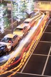 Tache floue de taxi Images stock