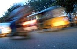 Tache floue du trafic Photographie stock libre de droits