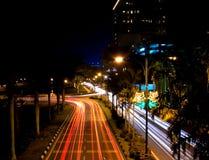 Tache floue du trafic du Bornéo photo stock