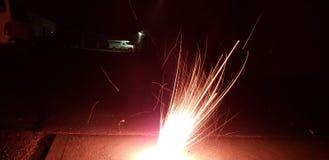 Tache floue et x22 ; o& x22 ; le feu Photo stock