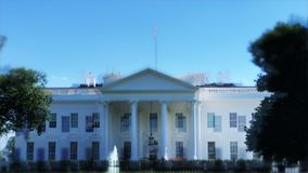Tache floue folle de Washington DC de la Maison Blanche banque de vidéos