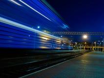 Tache floue mobile de train Photographie stock libre de droits