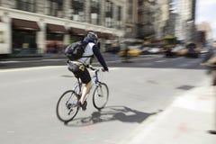 Tache floue New York City 2 de bicyclette Photographie stock libre de droits