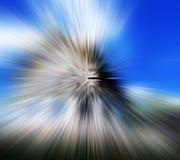 Tache floue radiale Images libres de droits