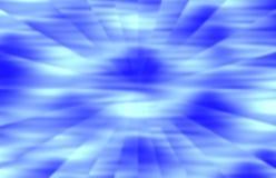 Tache floue radiale aux nuances du bleu Photographie stock libre de droits