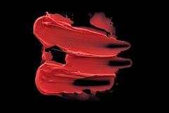 Tache rose de rouge à lèvres de pêche Photographie stock