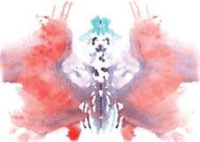 tache symétrique de Rorschach d'aquarelle illustration de vecteur