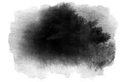 Tache tirée par la main de noir d'aquarelle illustration stock