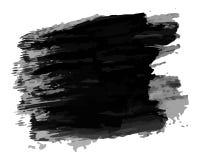 Tache tirée par la main noire d'encre illustration libre de droits