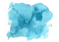 Tache tir?e par la main de brosse d'aquarelle de vecteur Course peinte color?e Fond tir? par la main de couleur bleue illustration stock