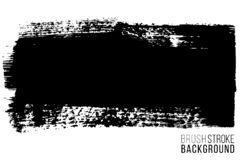 Tache tir?e par la main de brosse de vecteur grande Course peinte par encre monochrome Peint par la tache de noir de brosse Artis illustration libre de droits