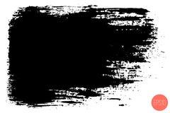 Tache tir?e par la main de brosse de vecteur grande Course peinte par encre monochrome Peint par la tache de noir de brosse Artis illustration stock