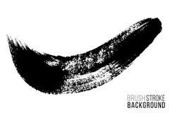 Tache tir?e par la main de brosse de vecteur grande Course peinte par encre monochrome Peint par la tache de noir de brosse Artis illustration de vecteur