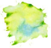 Tache verte d'aquarelle illustration de vecteur