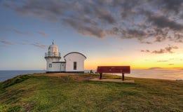 Tacheando o porto Macquarie do farol do ponto Imagem de Stock