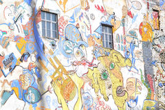 Tacheles Berlin. A great murales on the Tacheles social center in Est Berlin Royalty Free Stock Photos
