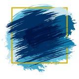 Taches bleues avec le cadre illustration de vecteur