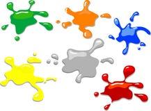 Taches colorées Images libres de droits