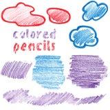Taches colorées de crayons illustration de vecteur