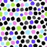 Taches colorées de peinture d'isolement sur un fond blanc seamless Photographie stock libre de droits