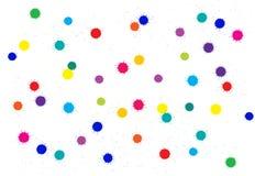 Taches colorées lumineuses d'encre d'absract de vecteur Images libres de droits
