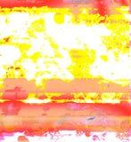 Taches colorées rouges et jaunes de forme de fantaisie sur un fond blanc image stock