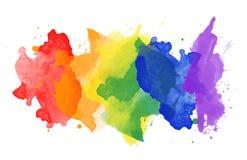 Taches d'arc-en-ciel d'aquarelle image libre de droits