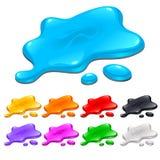 Taches dans différentes couleurs Photographie stock libre de droits