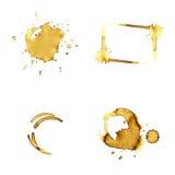 Taches de café Images libres de droits