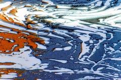 Taches de couleur, baisses d'éclaboussure, conception faite de peinture liquide photos libres de droits