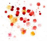 Taches de peinture d'aquarelle Image libre de droits