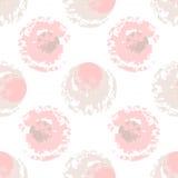 Taches de rose et de beige sur le fond blanc image stock