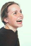 Taches de rousseur de portrait de beauté de studio de femme Image stock