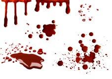 Taches de sang réglées Photos libres de droits