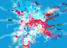 Taches de scintillement colorées bleues molles, fond abstrait et texture Image stock