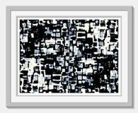 Taches effilées de couleur - gris bleuâtre Images stock