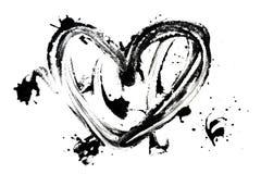 Taches en forme de coeur d'encre Images stock