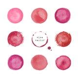 Taches et taches rondes de vin Photo libre de droits