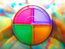 Taches floues CD de cadre photo stock