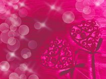 Taches floues colorées de coeurs brillants abstraits de fond d'amour Image stock