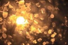 taches lumineuses d'un réverbère Image stock