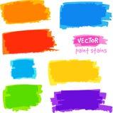 Taches lumineuses de douleur de vecteur de couleurs d'arc-en-ciel réglées Image stock