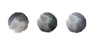 Taches noires d'aquarelle illustration de vecteur