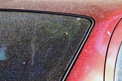 Taches, saleté sur la pollution en verre de voiture, saleté extérieure, fond d'abrégé sur texture de sol de la poussière photo libre de droits