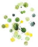 Taches vertes et jaunes Images libres de droits