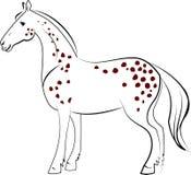 Tachetez le cheval Images libres de droits